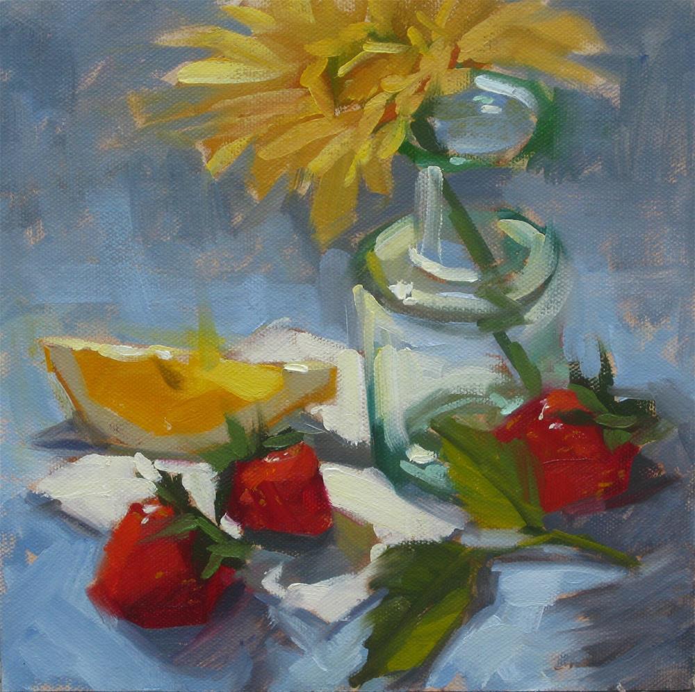 """Demo With A Lemon Wedge"" original fine art by Karen Werner"