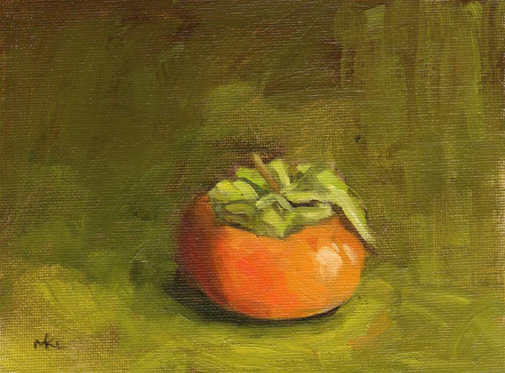 """Persimmon Study #2"" original fine art by Marlene Lee"