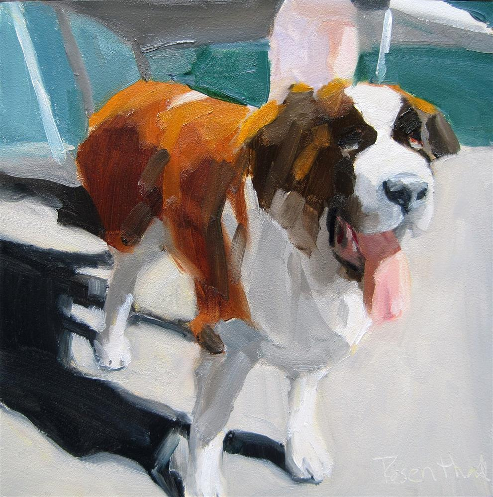 """Bernese Mountain. Dog"" original fine art by Robin Rosenthal"