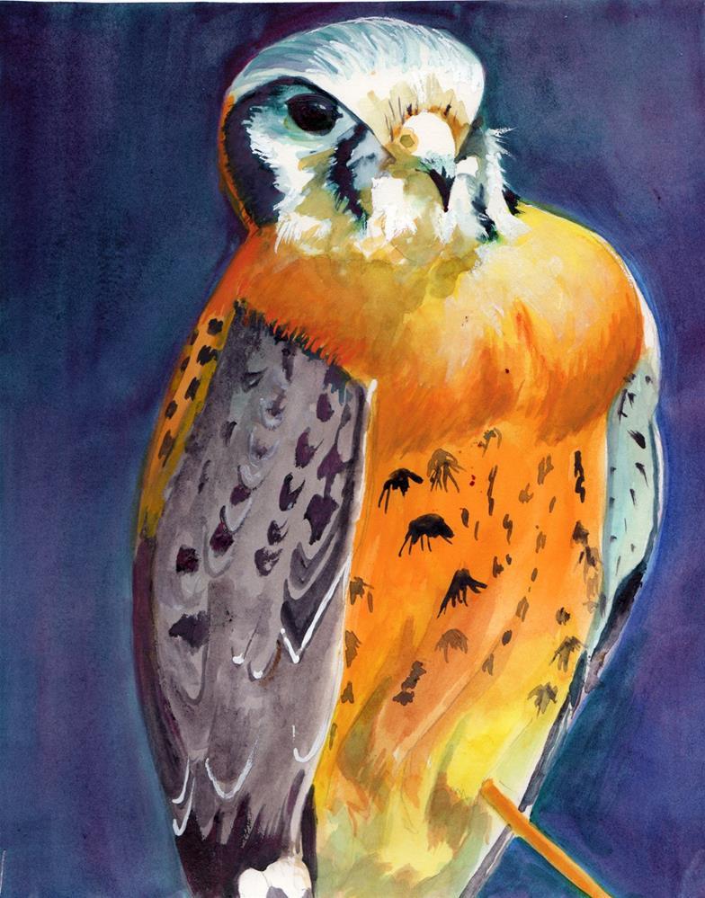 """""""Kestril Bird """" original fine art by Bunny Griffeth"""