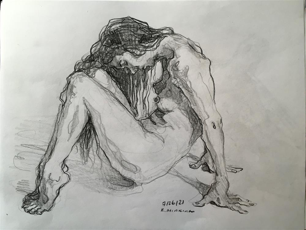 """Figure74"" original fine art by Katya Minkina"