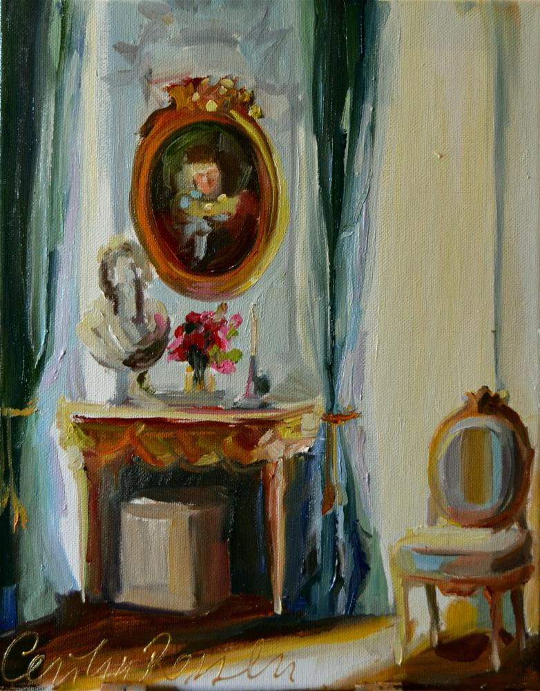 """""""FRENCH ROOM"""" original fine art by Cecilia Rosslee"""
