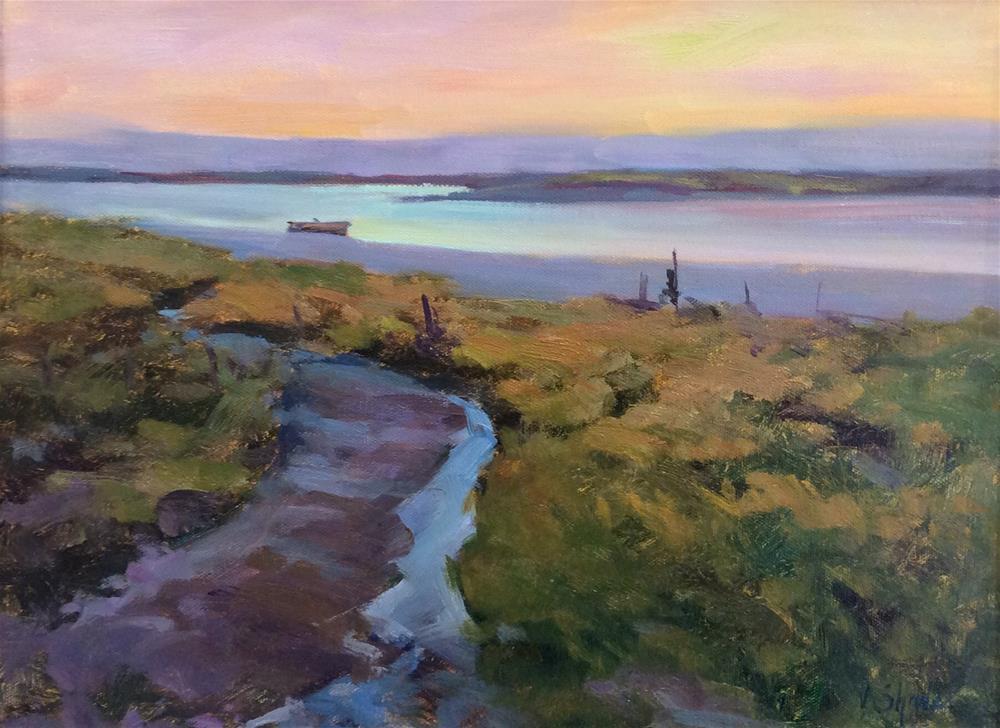 """Across the Marshes.. Paglesham"" original fine art by John Shave"