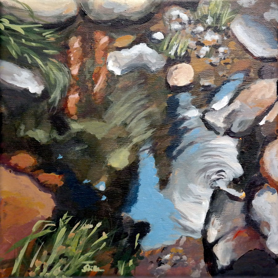"""1103 Carol's Landscape"" original fine art by Dietmar Stiller"
