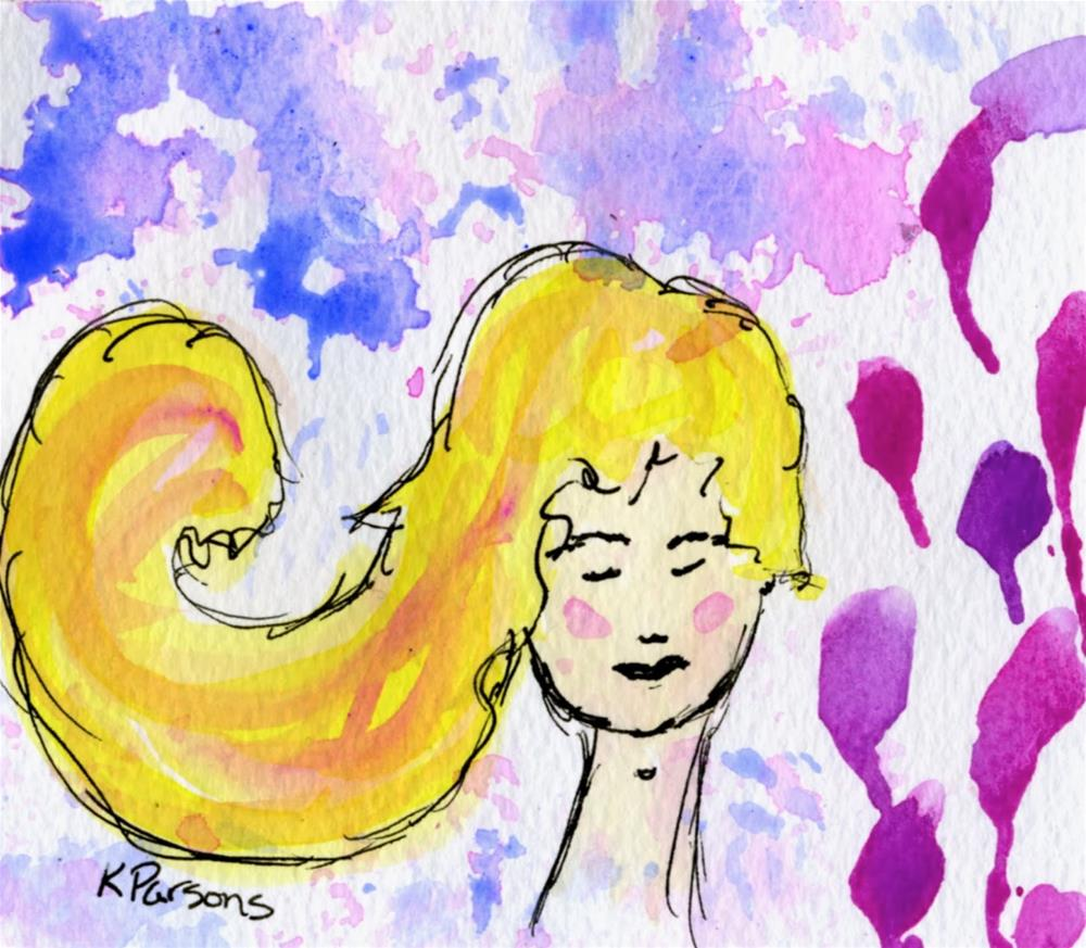 """Like a Wave"" original fine art by Kali Parsons"