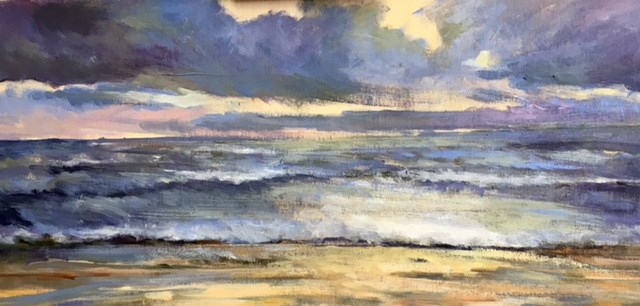 """Stormy Bay"" original fine art by Cathy Boyd"
