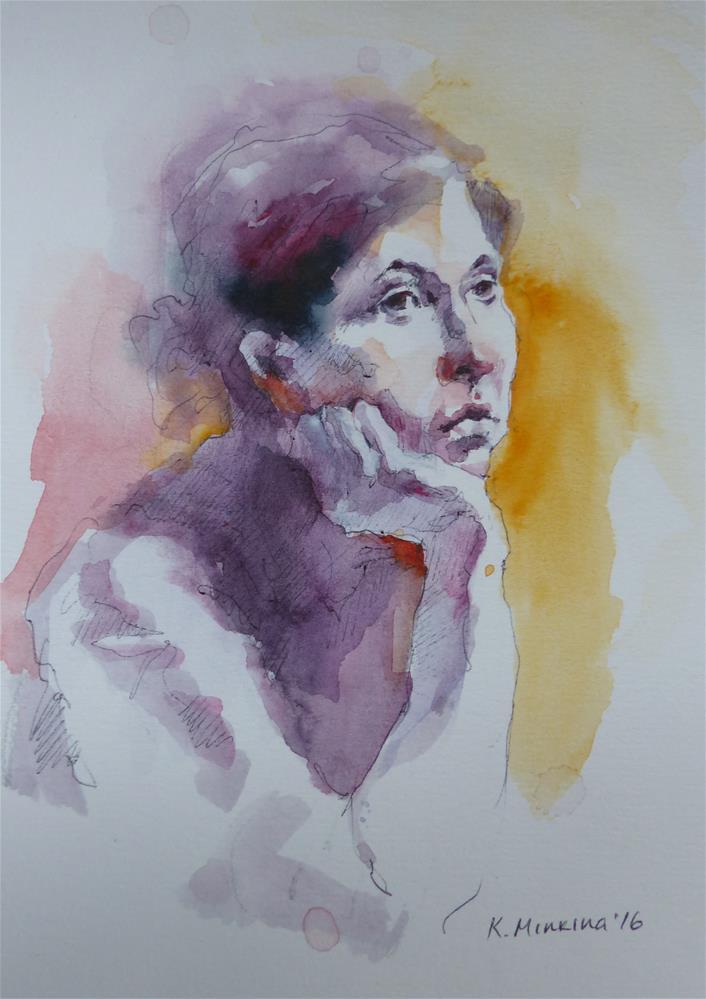"""sketchbook#33"" original fine art by Katya Minkina"