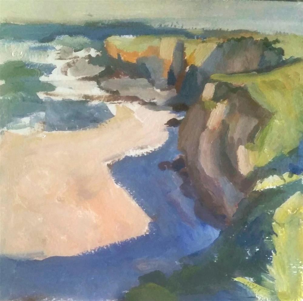 """Cliff Near the Ocean"" original fine art by Liz Maynes"