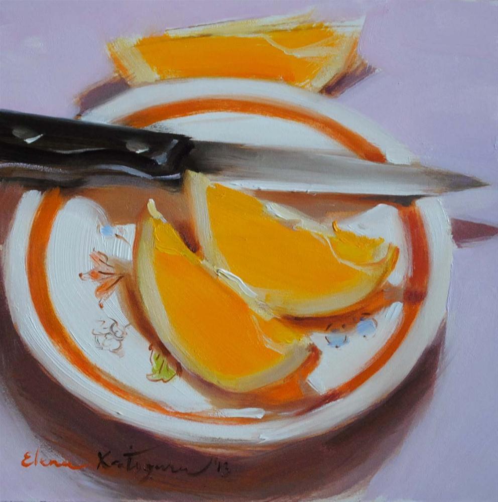 """""""Three Slices"""" original fine art by Elena Katsyura"""