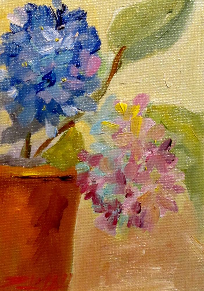 """Flowers in a Pot"" original fine art by Delilah Smith"