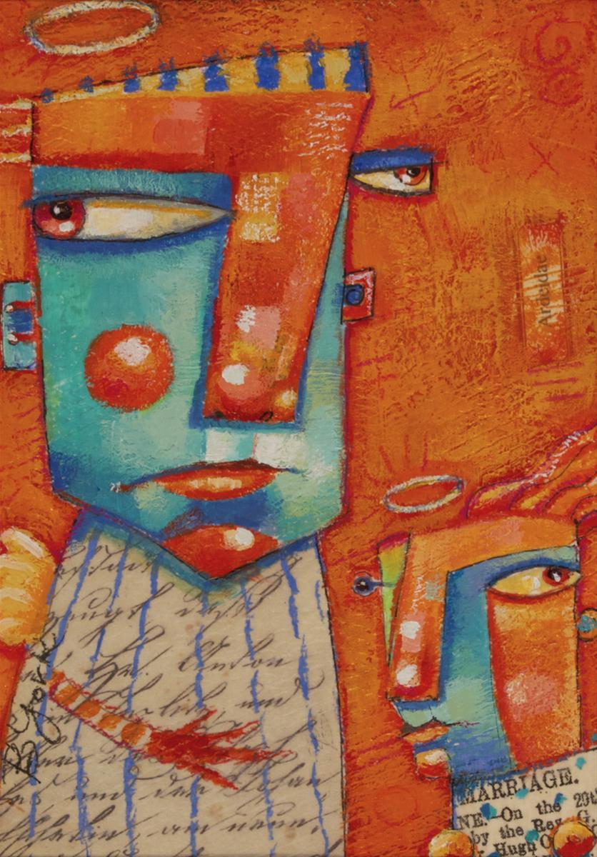 """Double Divine"" original fine art by Brenda York"