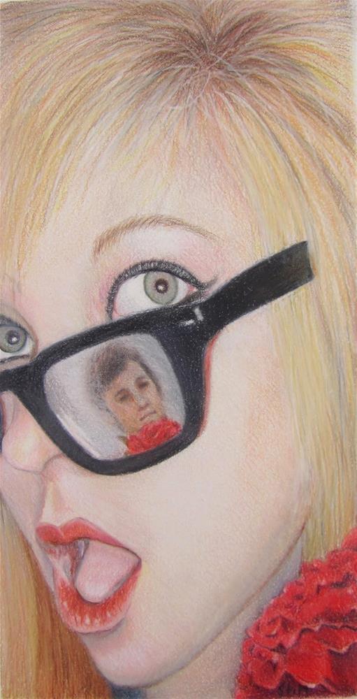 """He loves me"" original fine art by Karen Stitt"