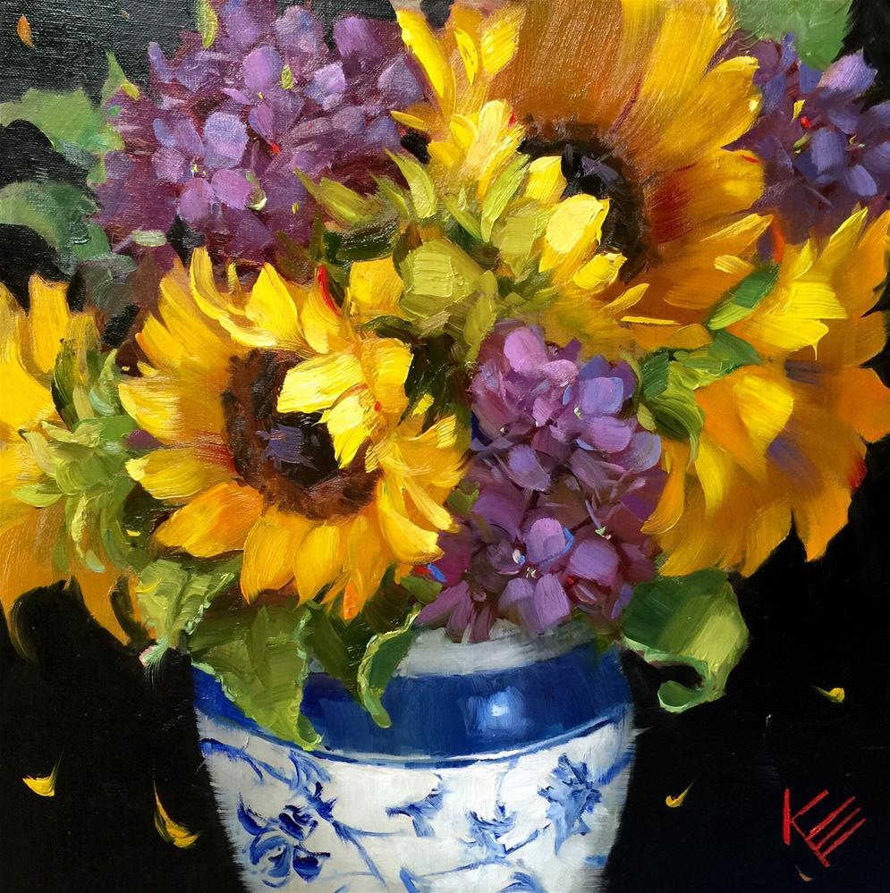 """Sunflower Dance"" original fine art by Krista Eaton"