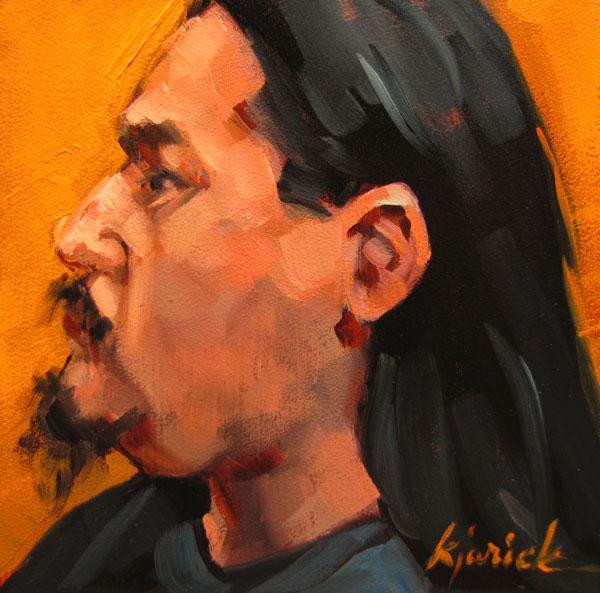 """100 Faces, No. 73"" original fine art by Karin Jurick"