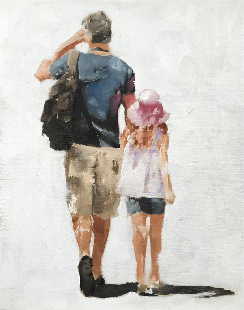 """""""Father and Daughter"""" original fine art by James Coates"""
