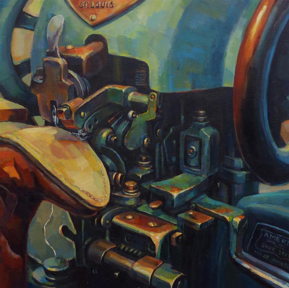 """A Stitch in Time"" original fine art by Katya Minkina"