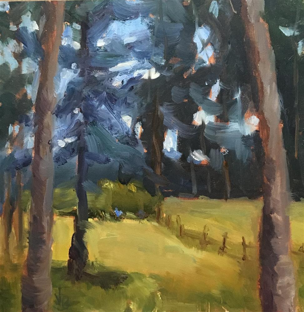 """Tree Lights"" original fine art by Victoria  Biedron"