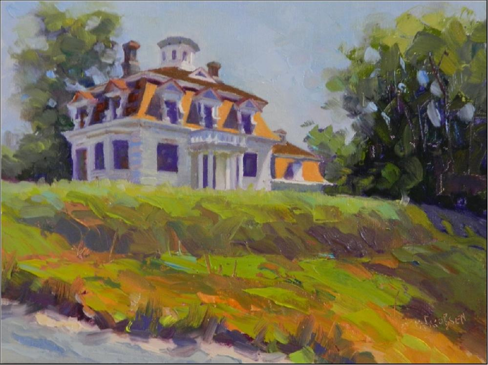 """The Penniman House, 9x12, oil on linen, the Penniman House, whaling industry, Cape Cod, Eastham, C"" original fine art by Maryanne Jacobsen"