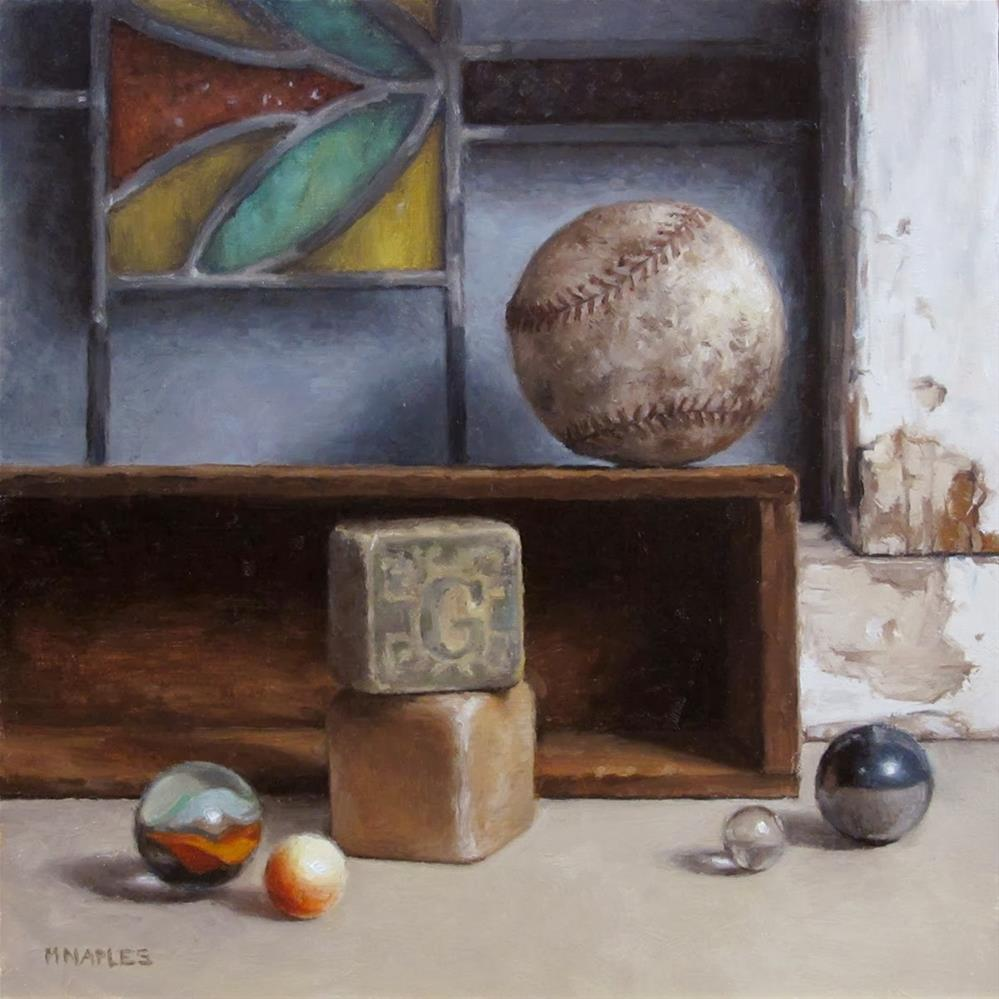"""Spheres and Cubes"" original fine art by Michael Naples"