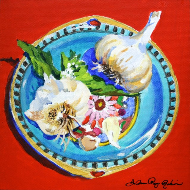 """Garlic Bowl 2015"" original fine art by JoAnne Perez Robinson"