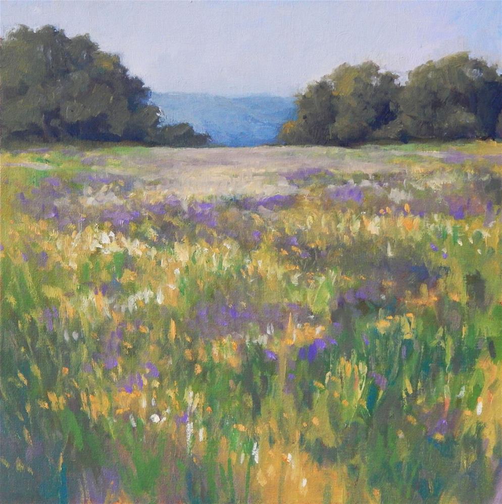 """Maine Meadow, Spring"" original fine art by Lisa Kyle"