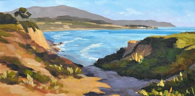 """Ocean View - 6x12"" original fine art by Sharon Schock"