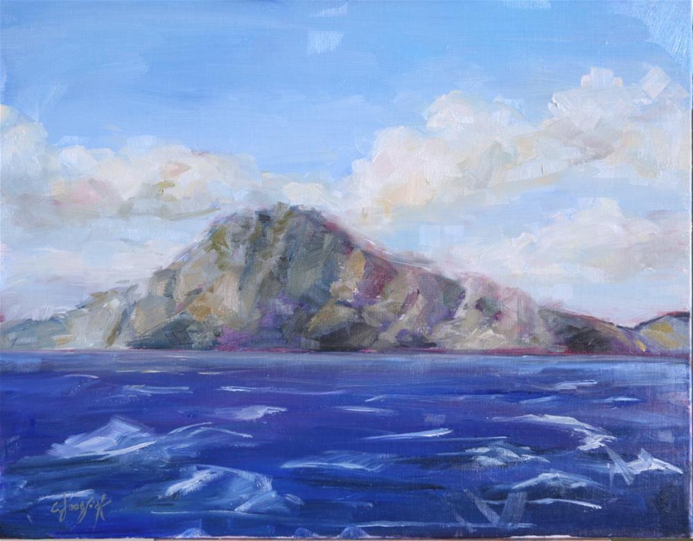"""Gibraltar"" original fine art by Carol Josefiak"