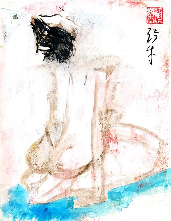 """Looking Towards The Heavens"" original fine art by Janet Gunderson"