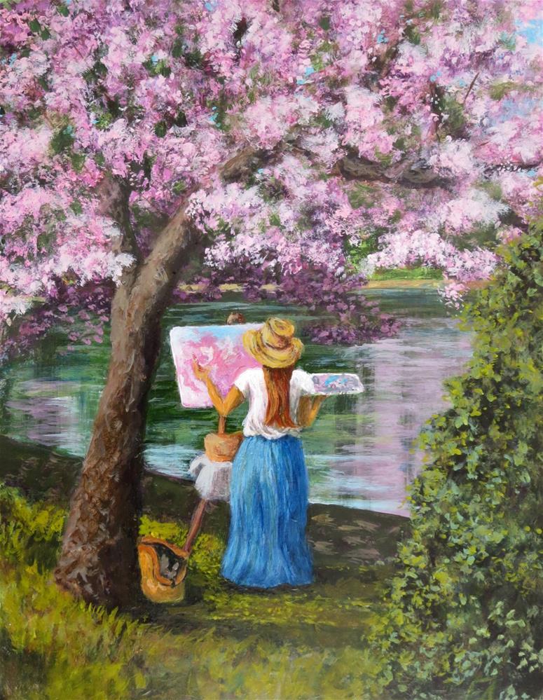 """Spring Sprouts Artists"" original fine art by Elizabeth Elgin"