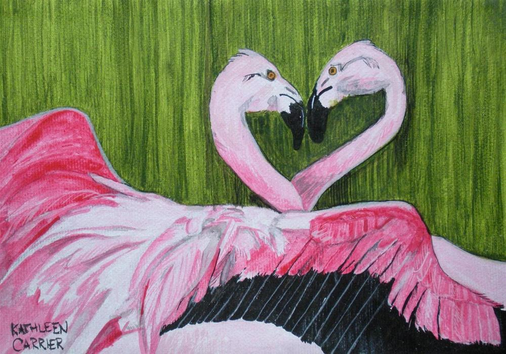 """Twisted in Pink"" original fine art by Kathleen Carrier"