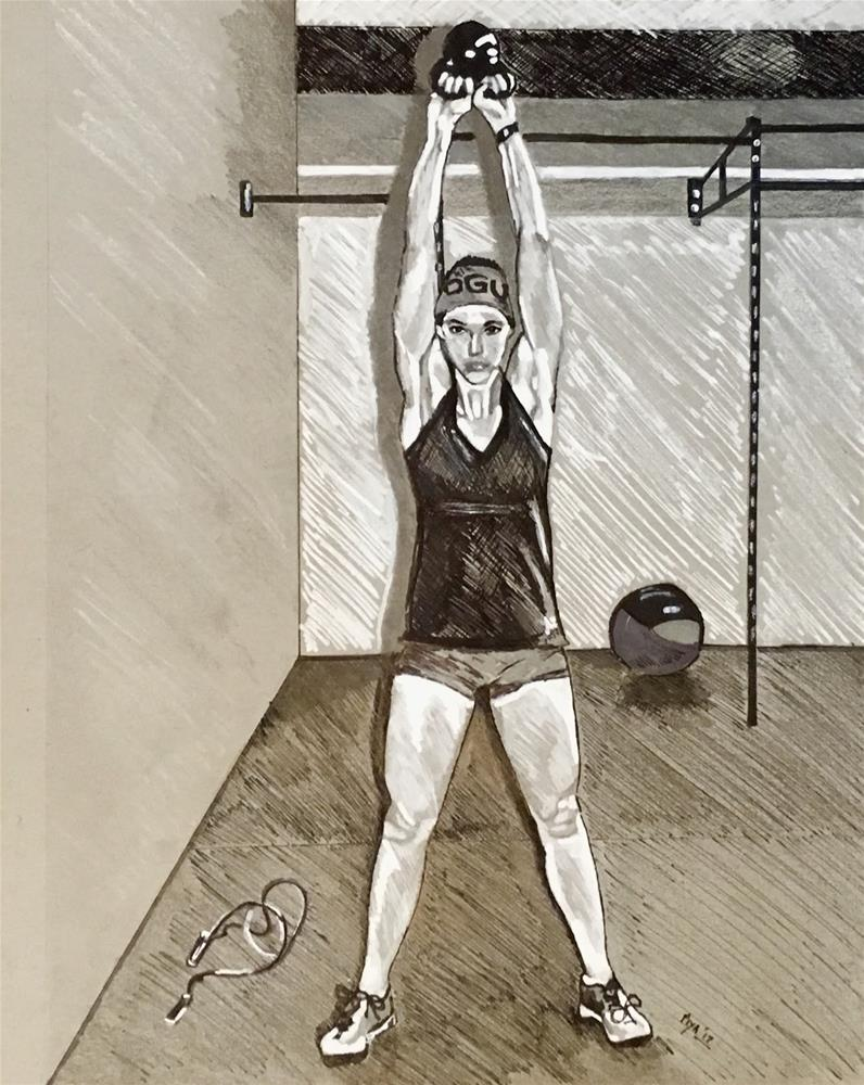 """Crossfitter"" original fine art by Piya Samant"