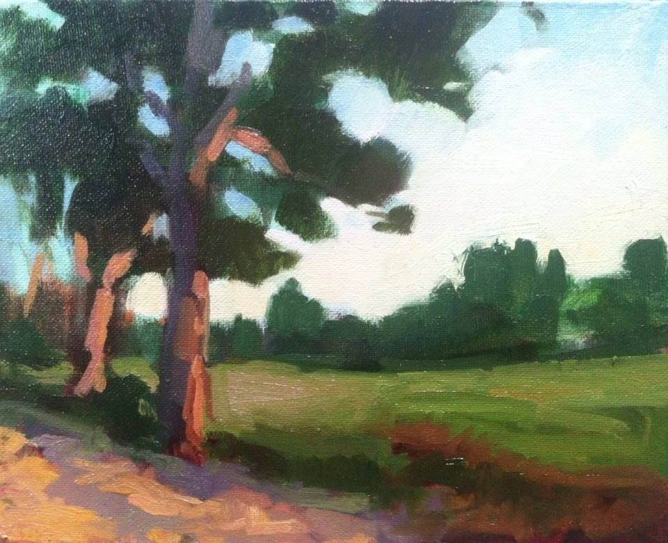 """""""Meadowview Sunset WIP"""" original fine art by Mary Mulvihill"""