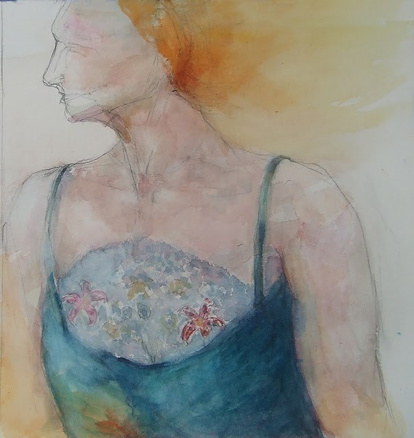 """Study#2"" original fine art by Mitsuru Cope"