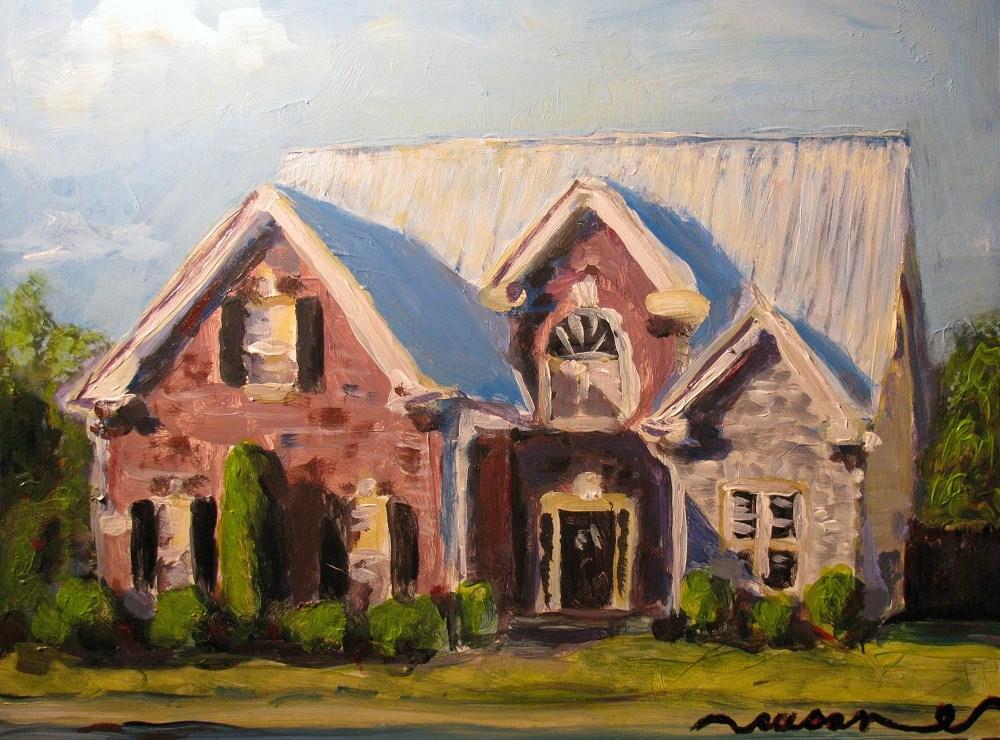 """3246 Bilbrey Drive"" original fine art by Susan Elizabeth Jones"