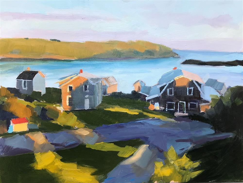 """Early Morning Monhegan"" original fine art by Sharon Schock"