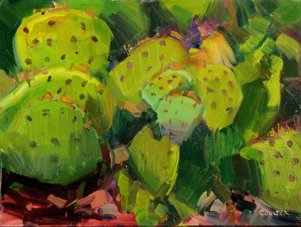 """""""SHADES OF PRICKLY PEAR"""" original fine art by James Coulter"""