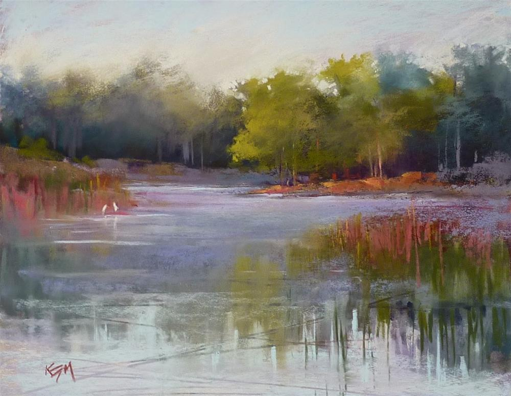 """""""Want to Try a Oil Stain Underpainting?"""" original fine art by Karen Margulis"""
