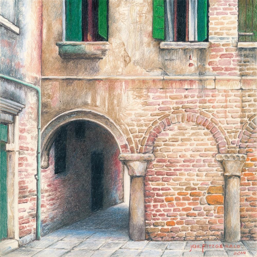 """Corte del Fontego"" original fine art by Joe Fitzgerald"