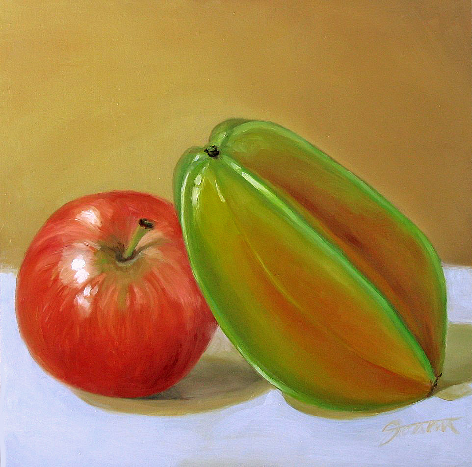 """Dancing With The Star...Fruit"" original fine art by Joanna Bingham"