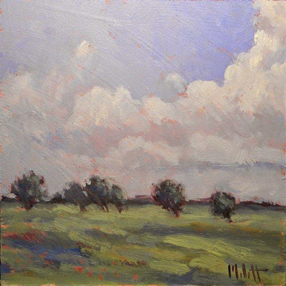 """Summer Impression Blustery Afternoon Heidi Malott Daily Paintings"" original fine art by Heidi Malott"