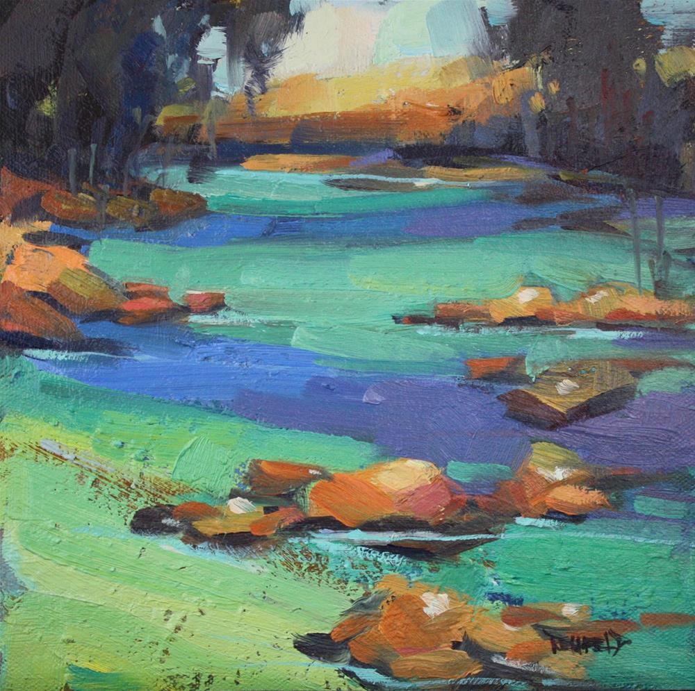 """""""River Study for Glacial Flour"""" original fine art by Cathleen Rehfeld"""