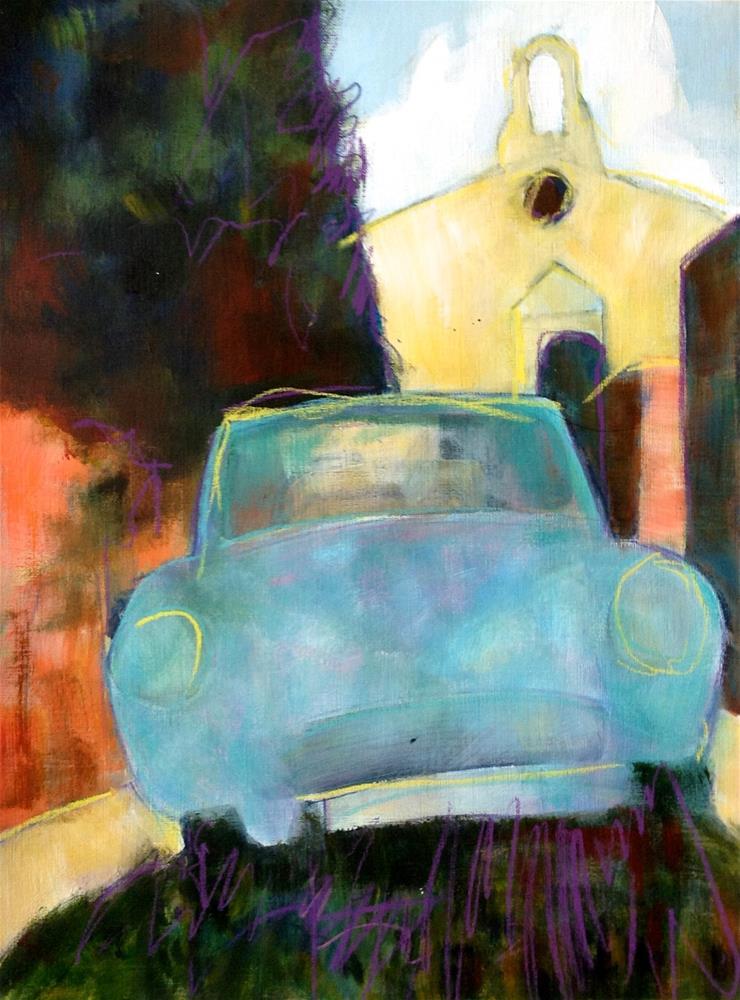 """""""Saignon"""" original fine art by Patricia MacDonald"""