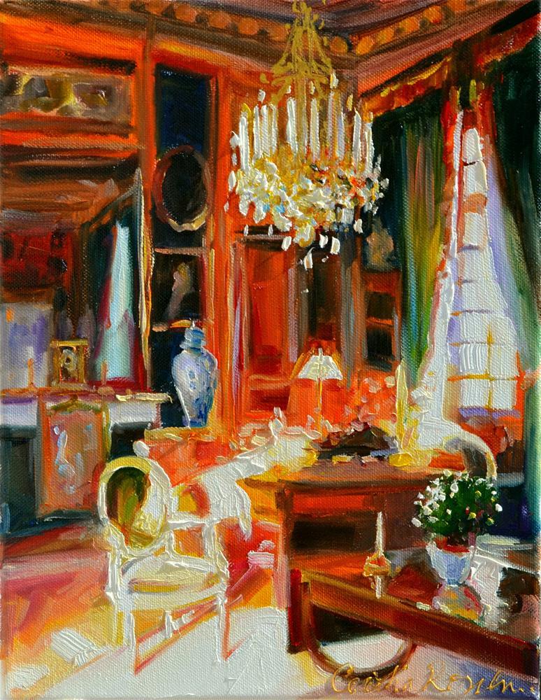 """"""" Château du Champ de Bataille"""" original fine art by Cecilia Rosslee"""
