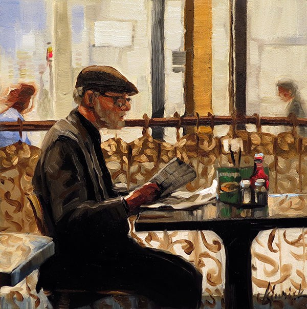 """The Day's News"" original fine art by Karin Jurick"