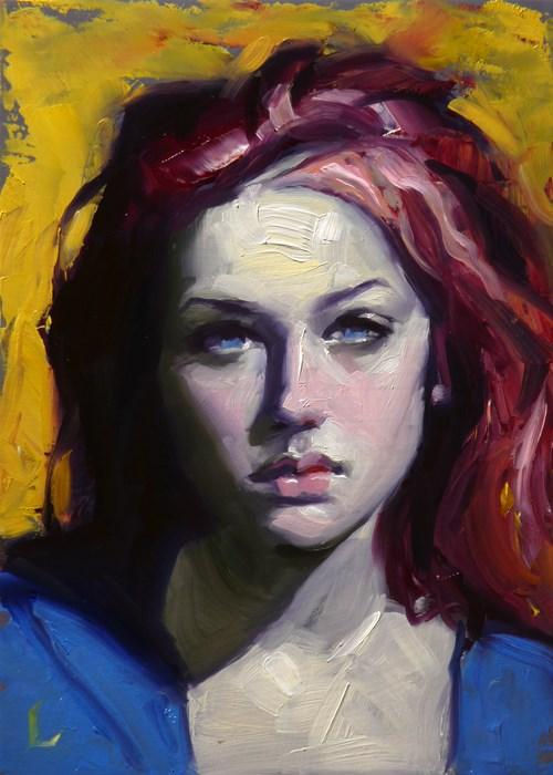 """Deep Red"" original fine art by John Larriva"