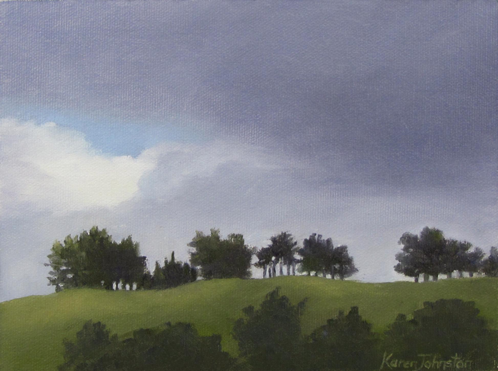 """""""Winter Cloud"""" original fine art by Karen Johnston"""