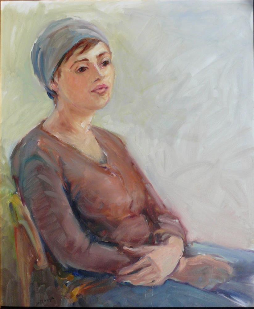 """Russian Girl,portrait,oil on canvas,24x20,priceNFS"" original fine art by Joy Olney"