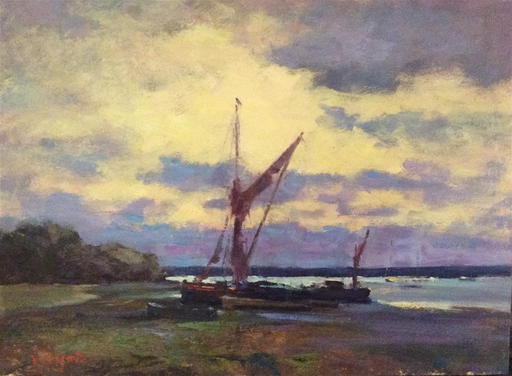 """""""Last Light.. Pin Mill"""" original fine art by John Shave"""