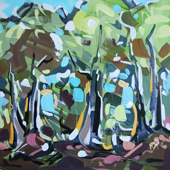 """Forest Exploration 20"" original fine art by Roger Akesson"