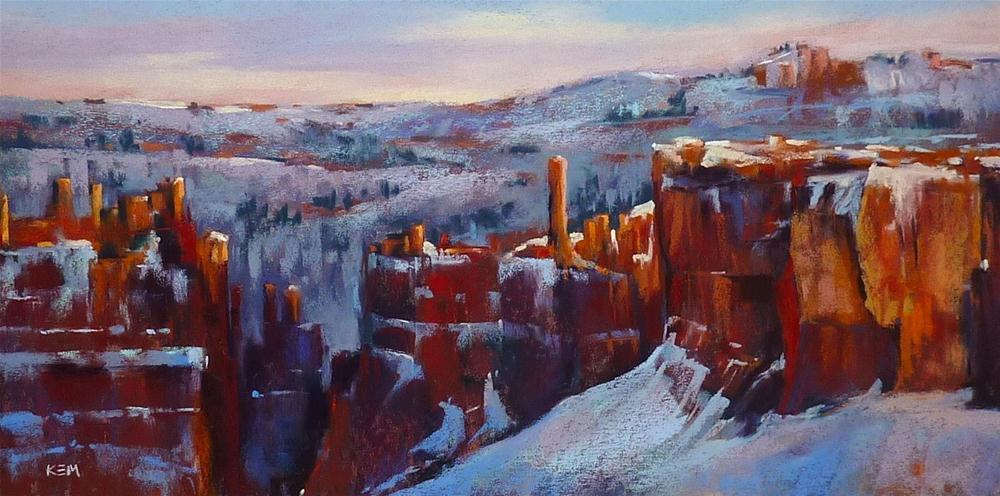 """It's Only Paper! Paint without Fear...Bryce Canyon"" original fine art by Karen Margulis"
